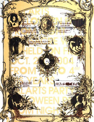CalArts poster: 2004 CalArts Halloween: Prom Night Massacre by