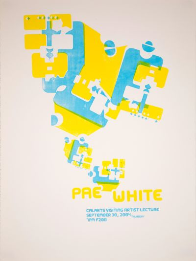CalArts poster: Pae White by