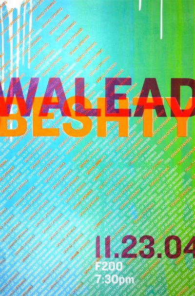 CalArts poster: Walead Beshty by