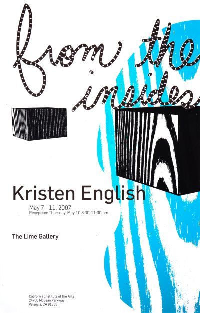 CalArts poster: Kristen English, From The Inside by