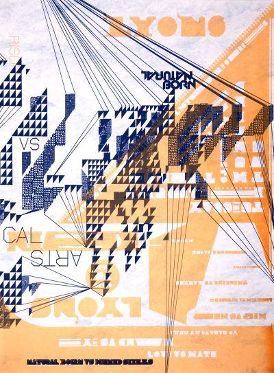 CalArts poster: Natural Born by Diego Padilla N. Silas Munro