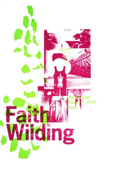 CalArts poster: Faith Wilding by Tasheka Arcenaux