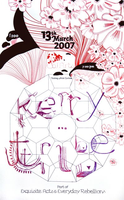 CalArts poster: Kerry Tribe by Christine Lee Gundula Prinz