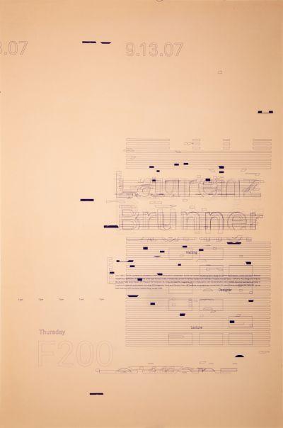 CalArts poster: Laurenz Brunner by N. Silas Munro