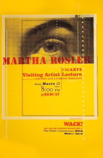 CalArts poster: Martha Rosler by Cassandra Chae