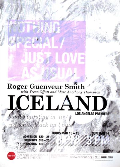 CalArts poster: REDCAT: Iceland by Nathan Martin