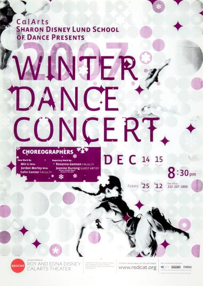 CalArts poster: REDCAT: 2007 Winter Dance Concert by Esther Choi
