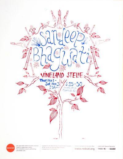 CalArts poster: REDCAT: Sandeep Bhagwati by Timothy Garrett