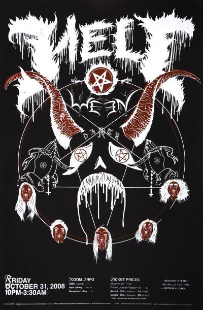 CalArts poster: 2008 CalArts Halloween by Nick Steinhardt