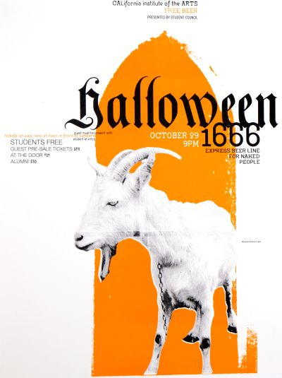 CalArts poster: 1999 CalArts Halloween by Andrew Hogge John Wiese