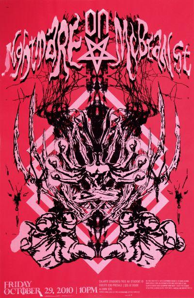CalArts poster: 2010 CalArts Halloween: Nightmare on McBean St. by Jason Lee