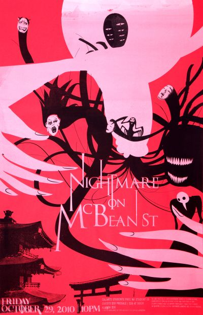 CalArts poster: 2010 CalArts Halloween: Nightmare on McBean St. by Terry Lee