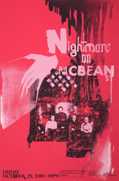 CalArts poster: 2010 CalArts Halloween: Nightmare on McBean St. by Zack Sekuler