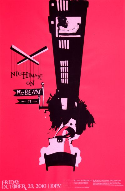 CalArts poster: 2010 CalArts Halloween: Nightmare On McBean St. by Hall Ramirez