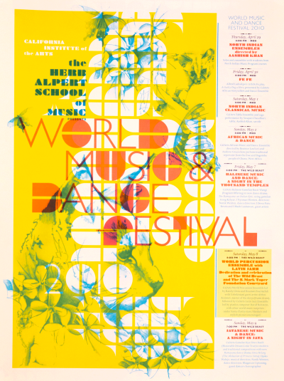 CalArts poster: World Music And Dance Festival 2010 by Peter Kaplan
