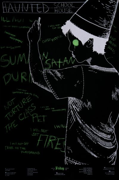 CalArts poster: 2011 CalArts Halloween: Haunted School House by Jazmyn Faulkner