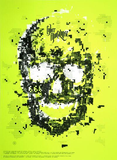 CalArts poster: 2012 CalArts Halloween: Cyber Apocalypse by Bijan Berahimi Christopher Burnett