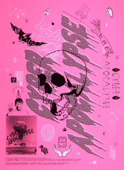 CalArts poster: 2012 CalArts Halloween: Cyber Apocalypse by Dasom Kim Taylor Giali