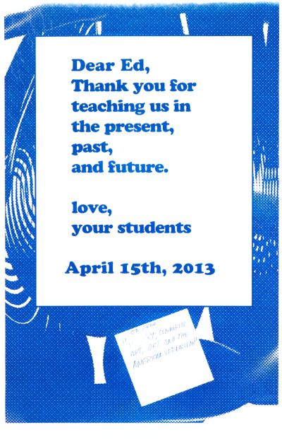 CalArts poster: Ed Fella Farewell Lecture: Dear Ed by