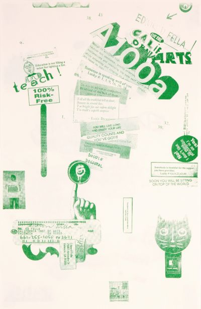 CalArts poster: Ed Fella Farewell Lecture: Edward Fella of CalArts A100a by