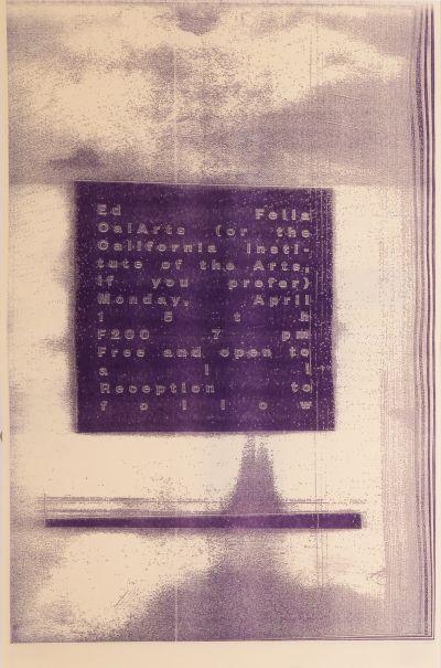 CalArts poster: Ed Fella Farewell Lecture: Ed Fella by