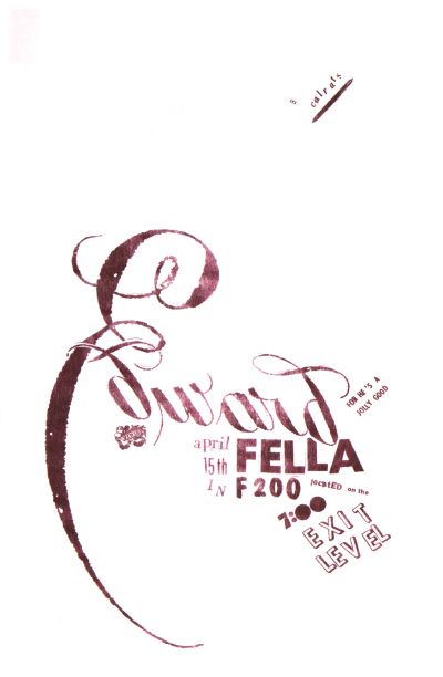 CalArts poster: Ed Fella Farewell Lecture: Edward Fella by