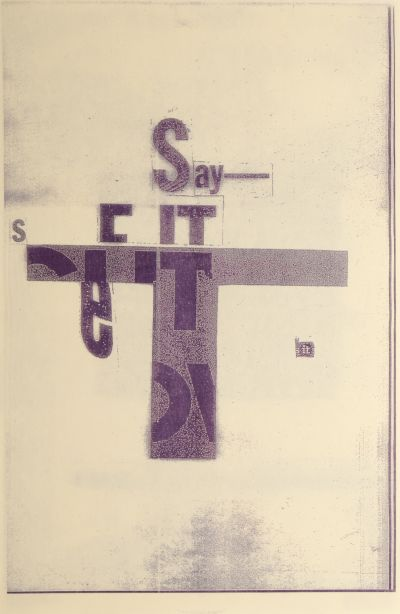 CalArts poster: Ed Fella Farewell Lecture: Say It, See It by Alex Pines