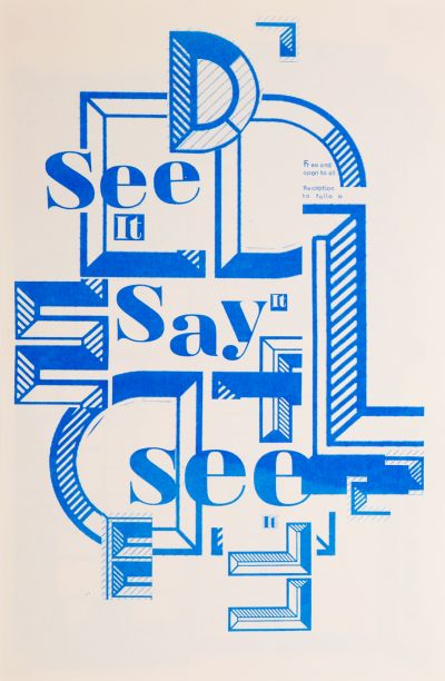 CalArts poster: Ed Fella Farewell Lecture: See It, Say It, See It by