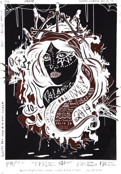 CalArts poster: 2014 CalArts Halloween by Hyunsoo Cho Sahir Khan