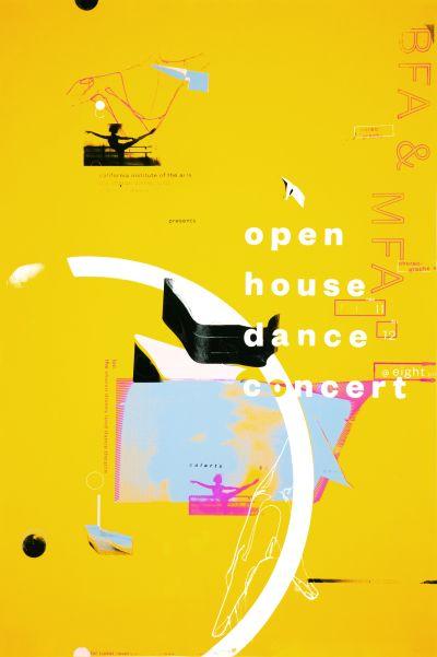 CalArts poster: 2015 Open House Dance Concert by Mina Shoaib Nicolas Escobar