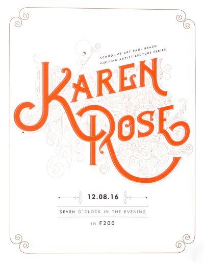 CalArts poster: Karen Rose by Guanyan Wu Sharleen Chen