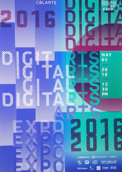 CalArts poster: 2016 Digital Arts Expo by Sohee Kim
