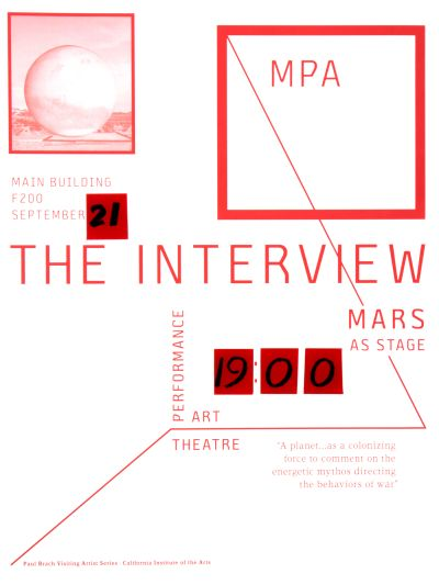 CalArts poster: The Interview by Yinchen Niu