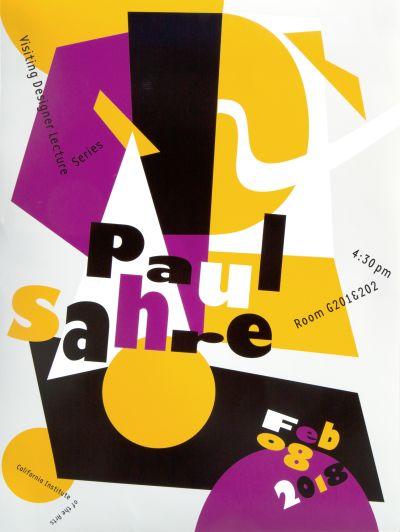 CalArts poster: Paul Sahre (1/3) by Guanyan Wu Junki Hong