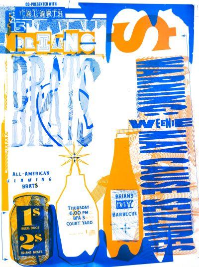 CalArts poster: Brians Brats by Brian Thompsen