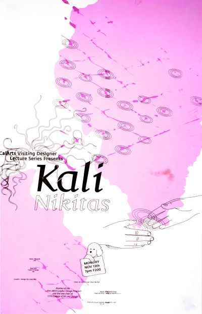 CalArts poster: Kali Nikitas by Sophine Lim