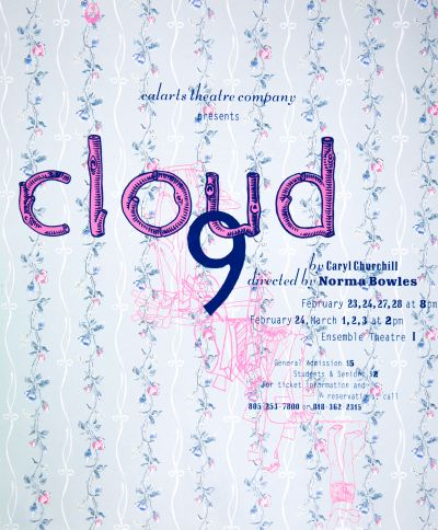CalArts poster: Cloud 9 by Barbara Glauber
