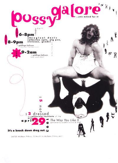 CalArts poster: Pussy Galore by Deborah Littlejohn Shawn McKinney