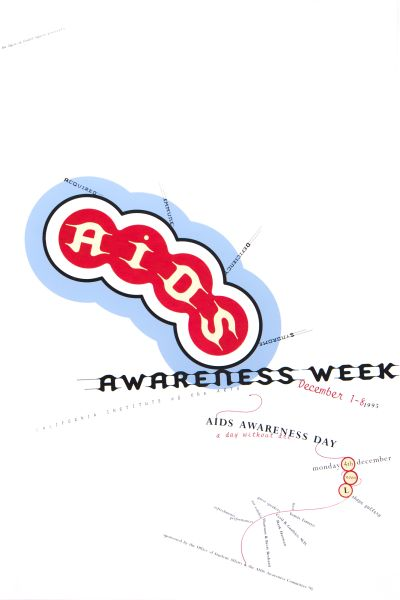 CalArts poster: AIDS Awareness Week by Glen Nakasako