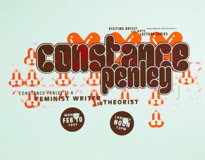 CalArts poster: Constance Penley by Jens Gehlhaar