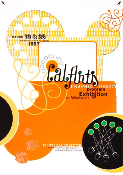 CalArts poster: 1997 CalArts Graphic Design Program Exhibition by Ana Llorente Andrea Tinnes
