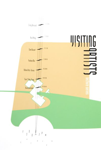 CalArts poster: 1999 Visiting Artists Lecture Series by Daniel Holmes