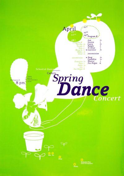 CalArts poster: CalArts Spring Dance Concert by Suthada Wadkhien
