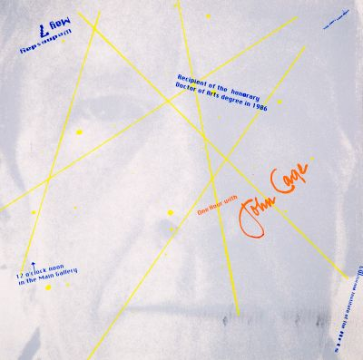 CalArts poster: One Hour with John Cage by Lane Hiers Troy Alders