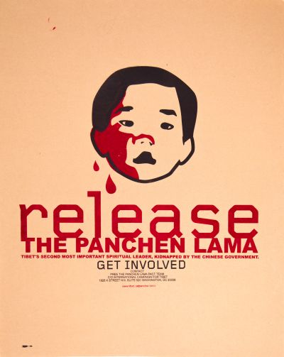 CalArts poster: Release the Panchen Lama by