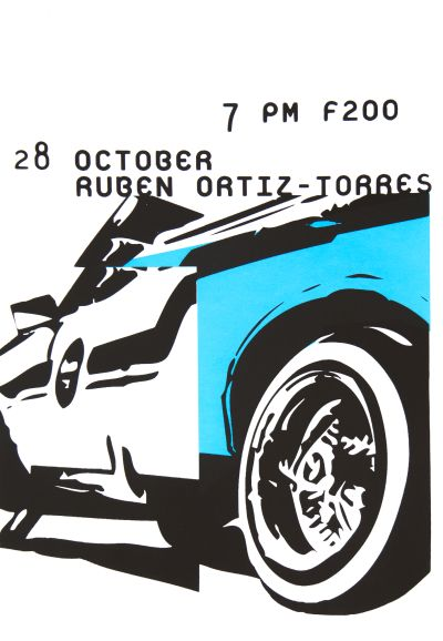 CalArts poster: Ruben Ortiz-Torres by Juliette Bellocq