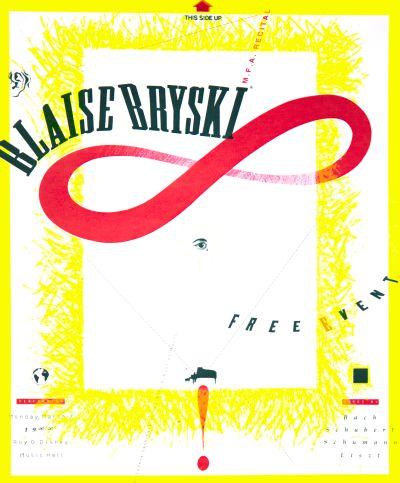 CalArts poster: Blaise Bryski MFA Recital by Barry Deck