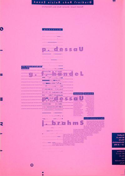 CalArts poster: Hanns Eisler Chor Freiburg by