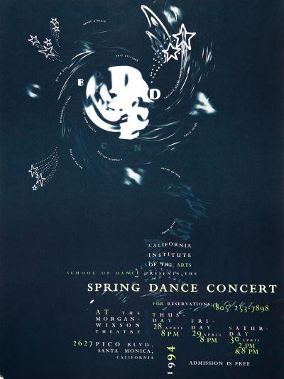 CalArts poster: 1994 Spring Dance Concert by Deborah Littlejohn