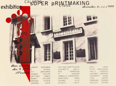 CalArts poster: CalArts Super Printmaking Class Exhibition by